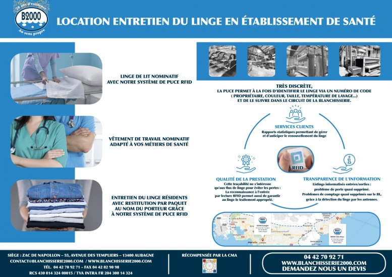LOCATION ENTRETIEN LINGE EN ETABLISSEMENT DE SANTE EHPAD CLINIQUE CENTRE REEDUCATION CABINET MEDICAL