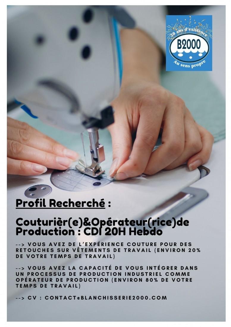 PROFIL RECHERCHE : COUTURIER(E) OPERATEUR(RICE) DE PRODUCTION